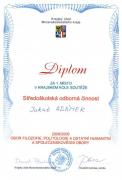 Diplom, Vítězi krajského kola