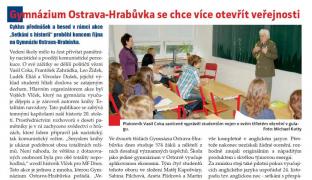 Gymnázium Ostrava-Hrabůvka se chce více otevřít veřejnosti