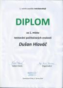Dušan Hlaváč zvítězil v soutěži počítačových znalostí